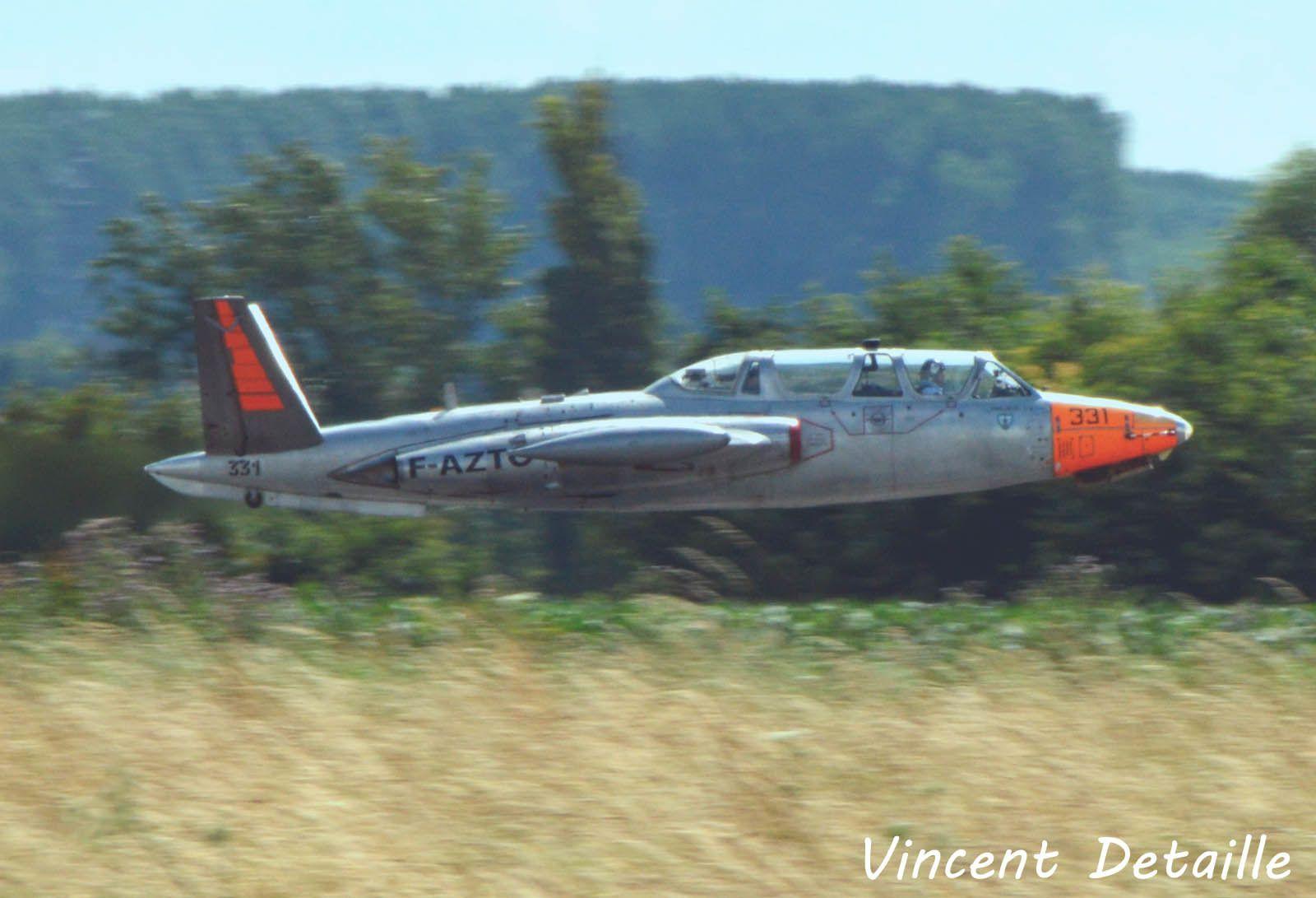 Le Fouga CM-170 Magister N°331 F-AZTO basé à Valencienne (photo: Vincent Detaille).