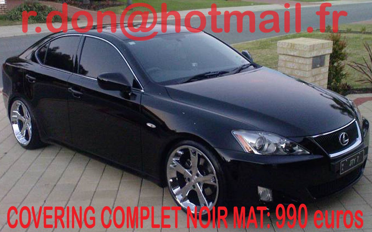 lexus is lexus is covering lexus is lexus is noir mat noir mat peinture covering voiture. Black Bedroom Furniture Sets. Home Design Ideas
