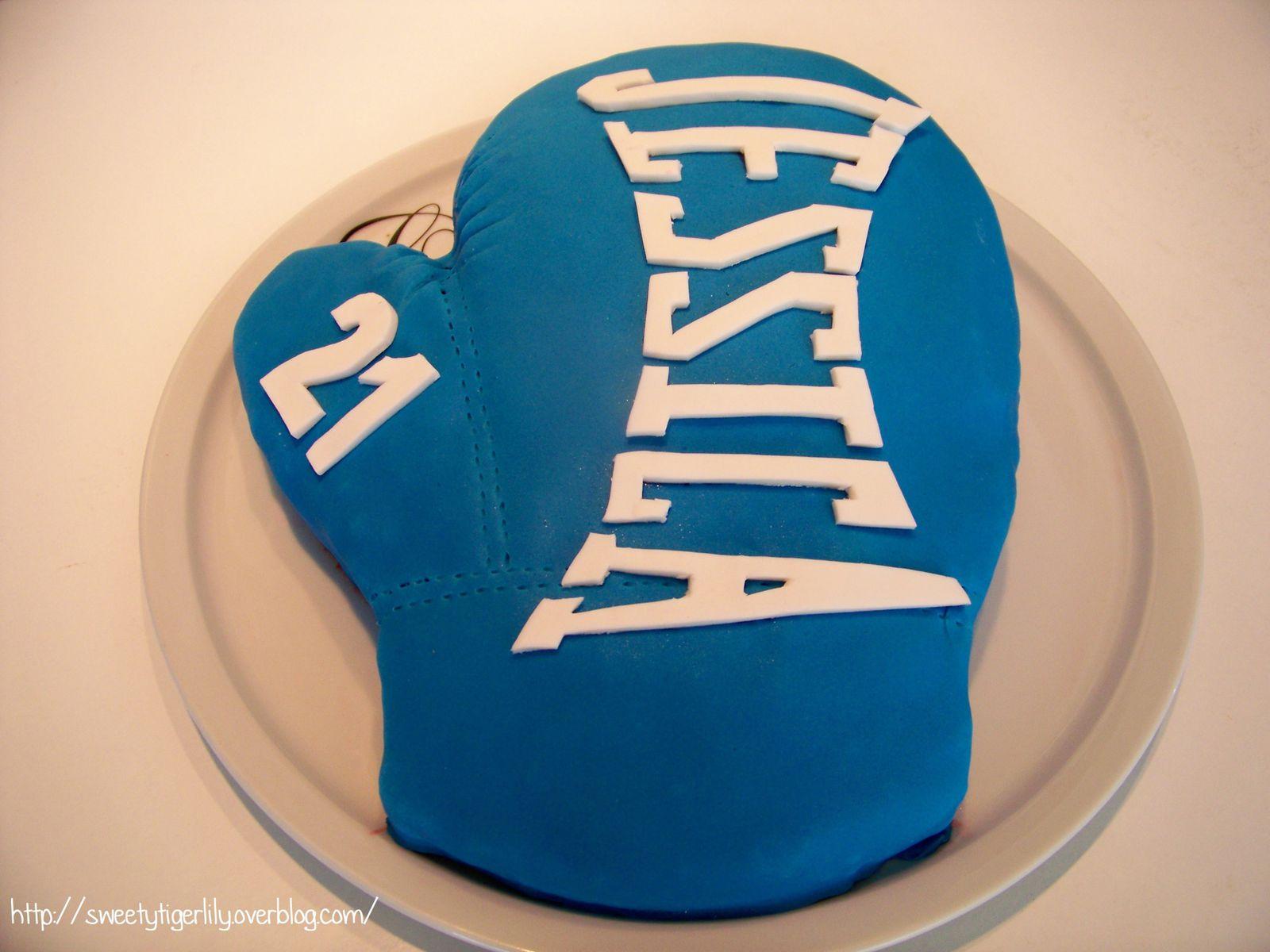 Gâteau 3D gant de boxe