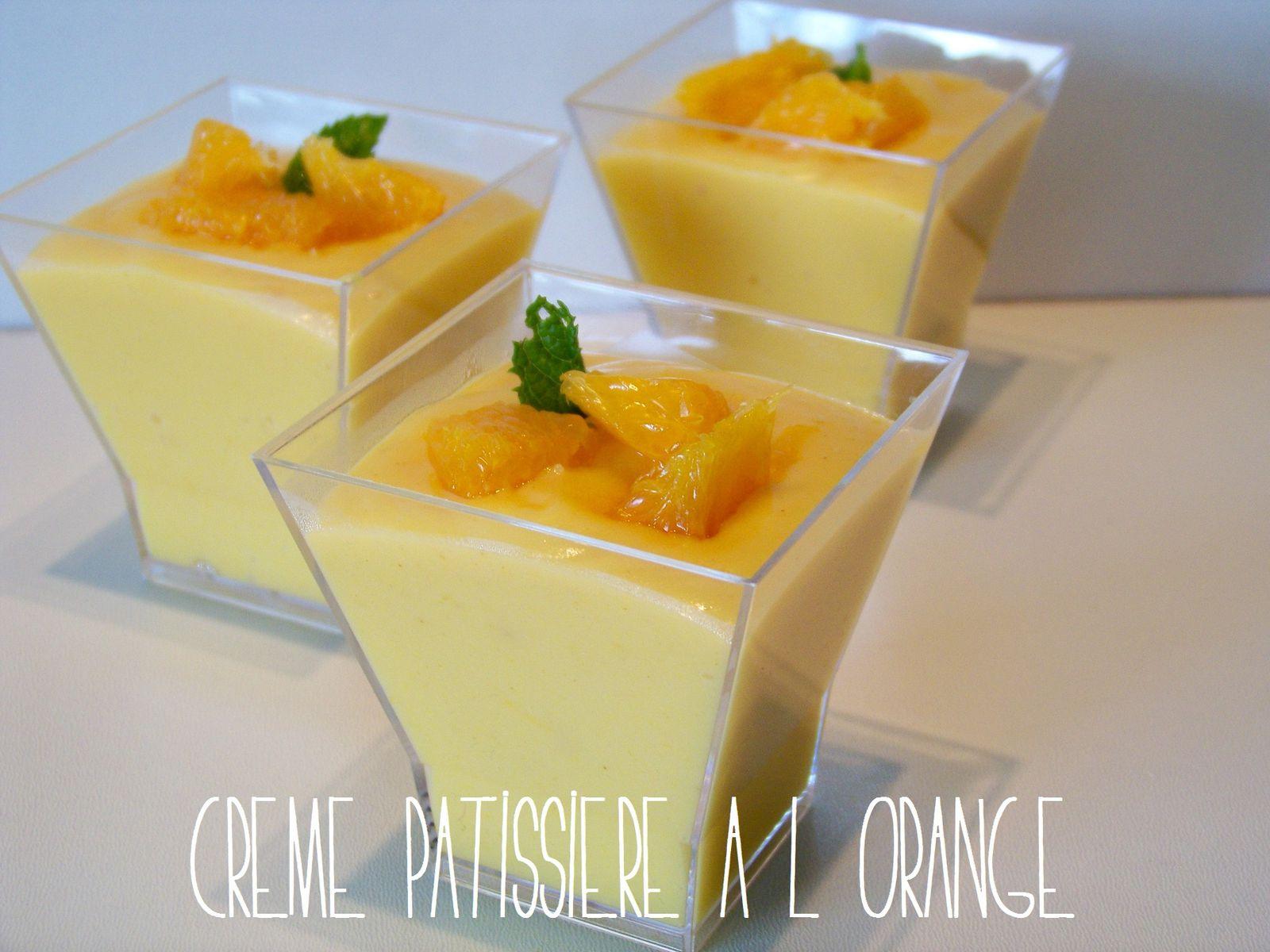 Crème pâtissière à l'orange