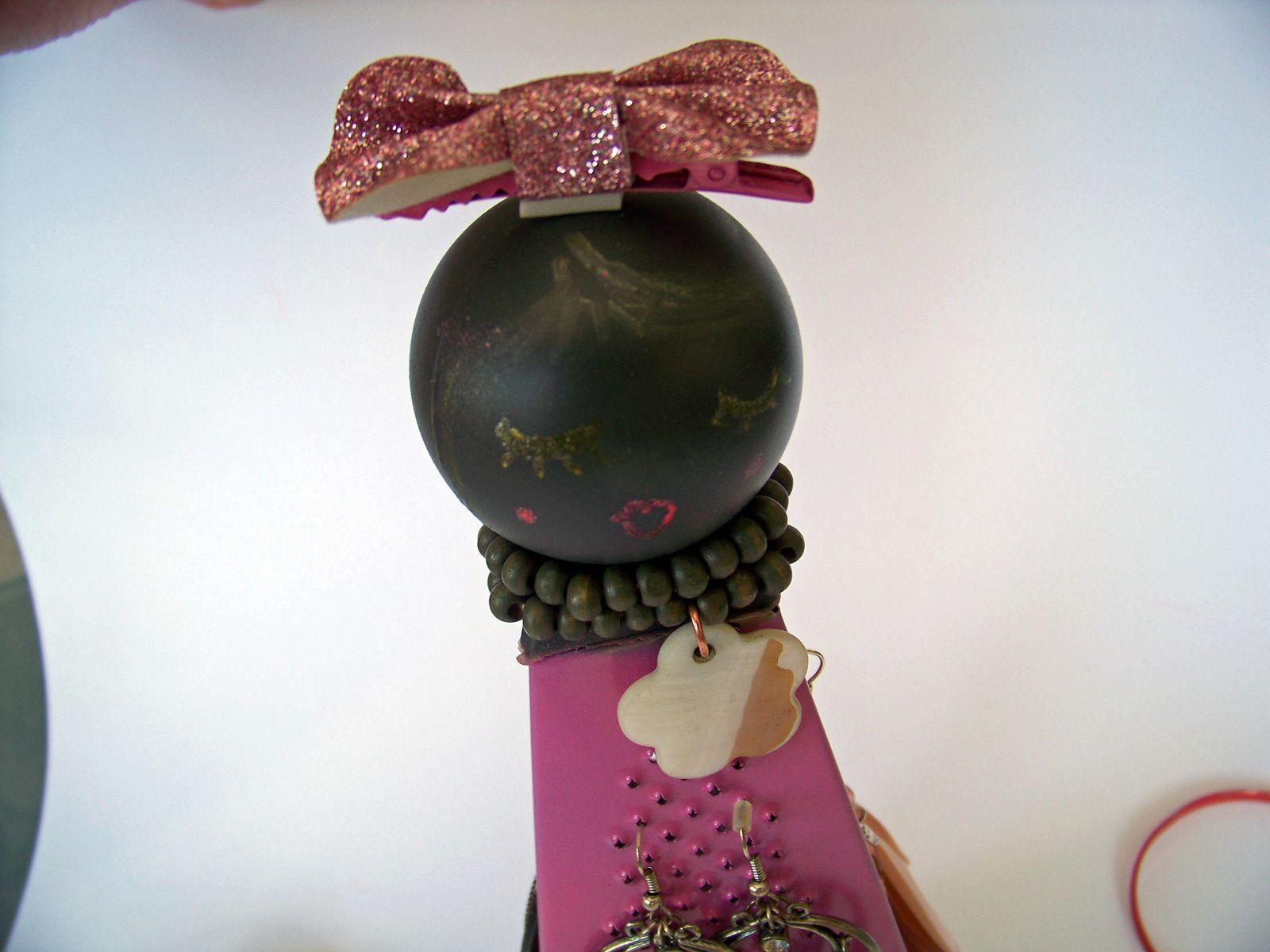 L'objet détourné en porte-bijoux
