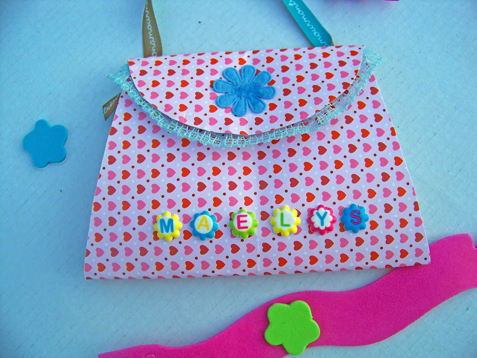 Forme sac à main pour carte girly !