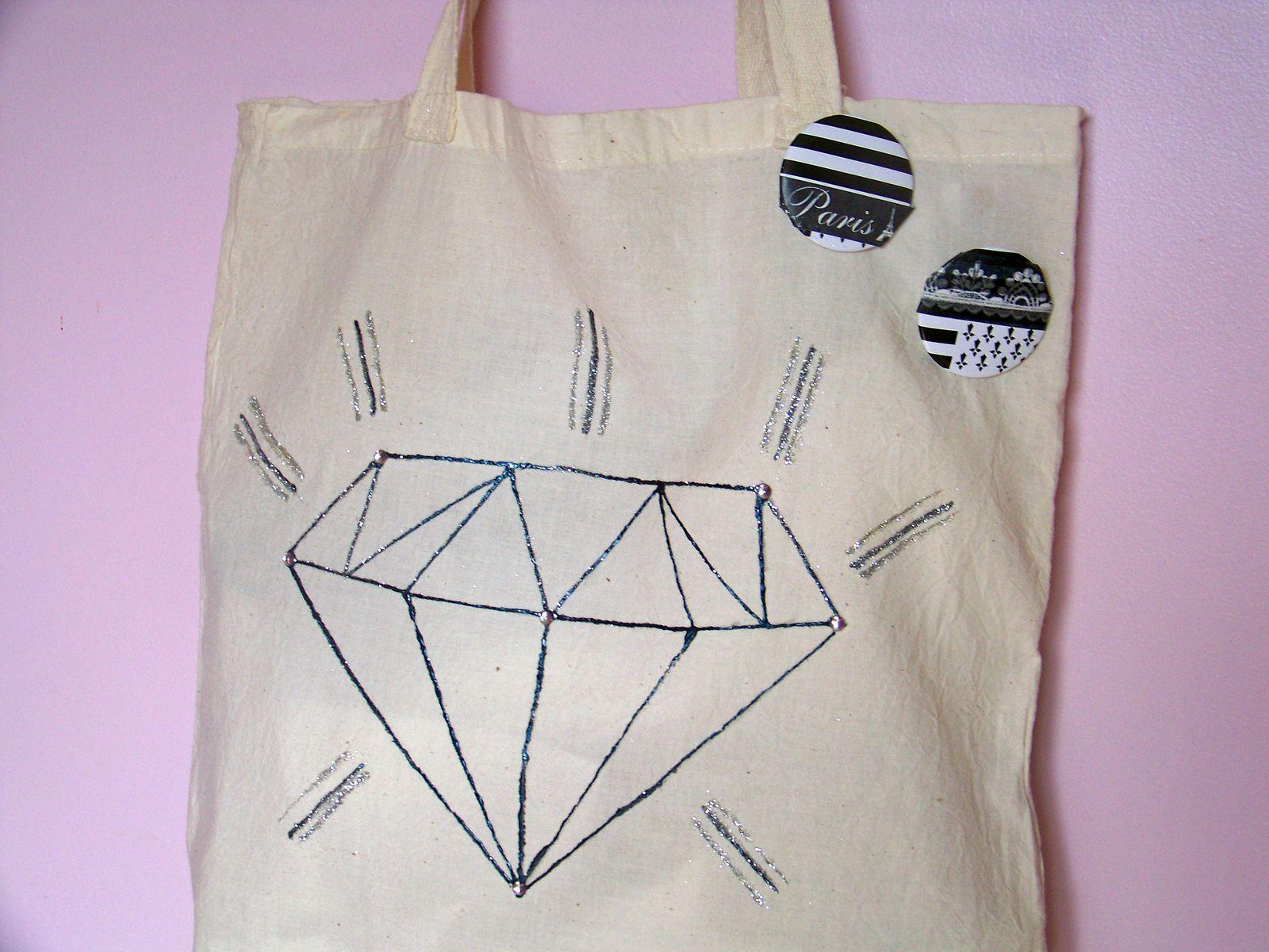 Le tote bag à motif diamant !