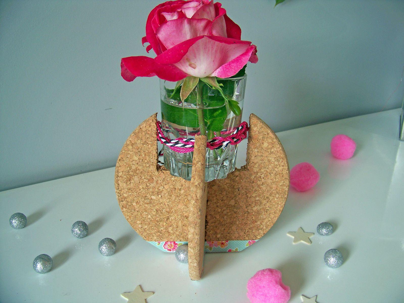 Support en liège pour vase !