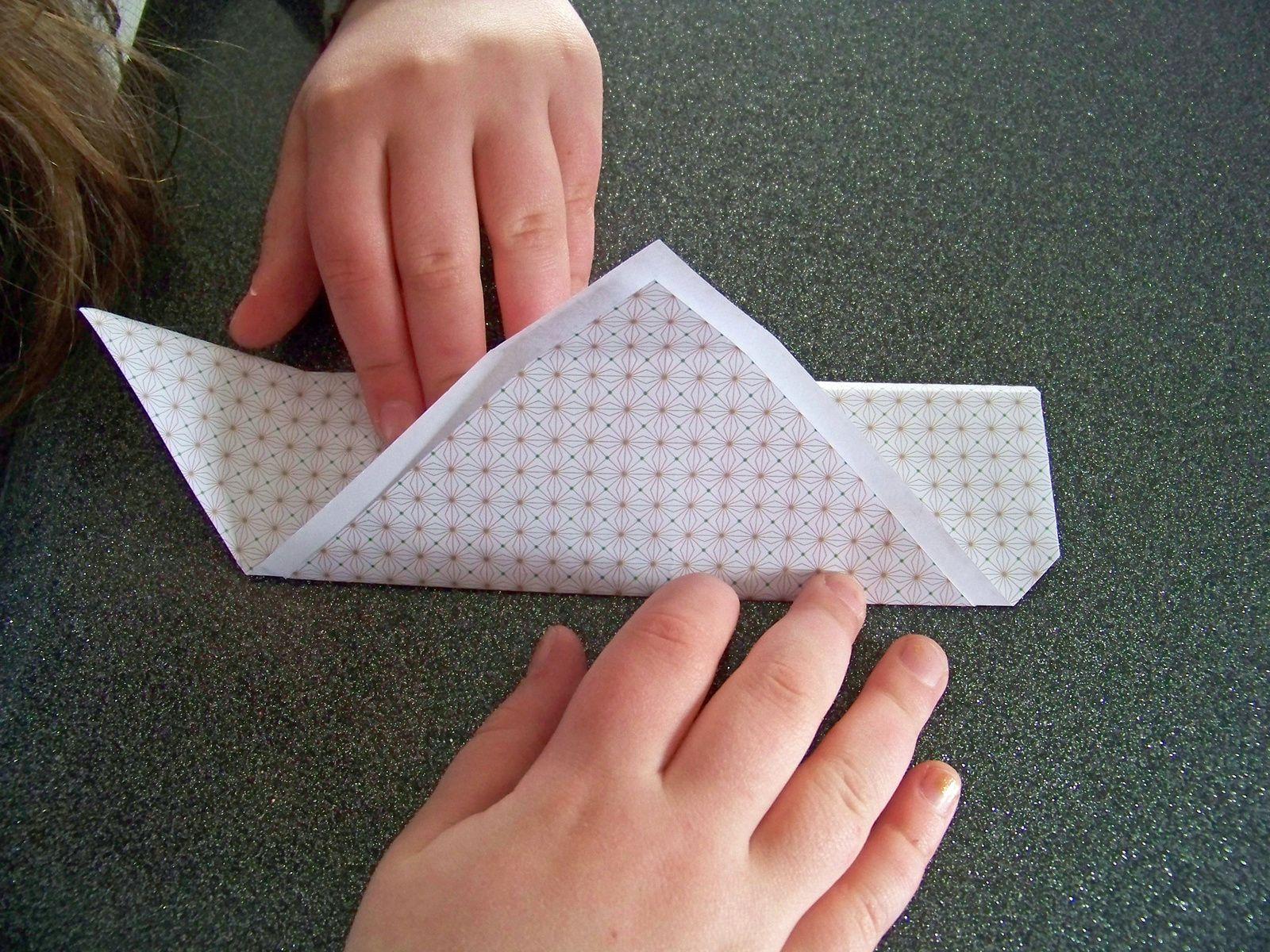 diy origami : faire un étui à baguettes chinoises