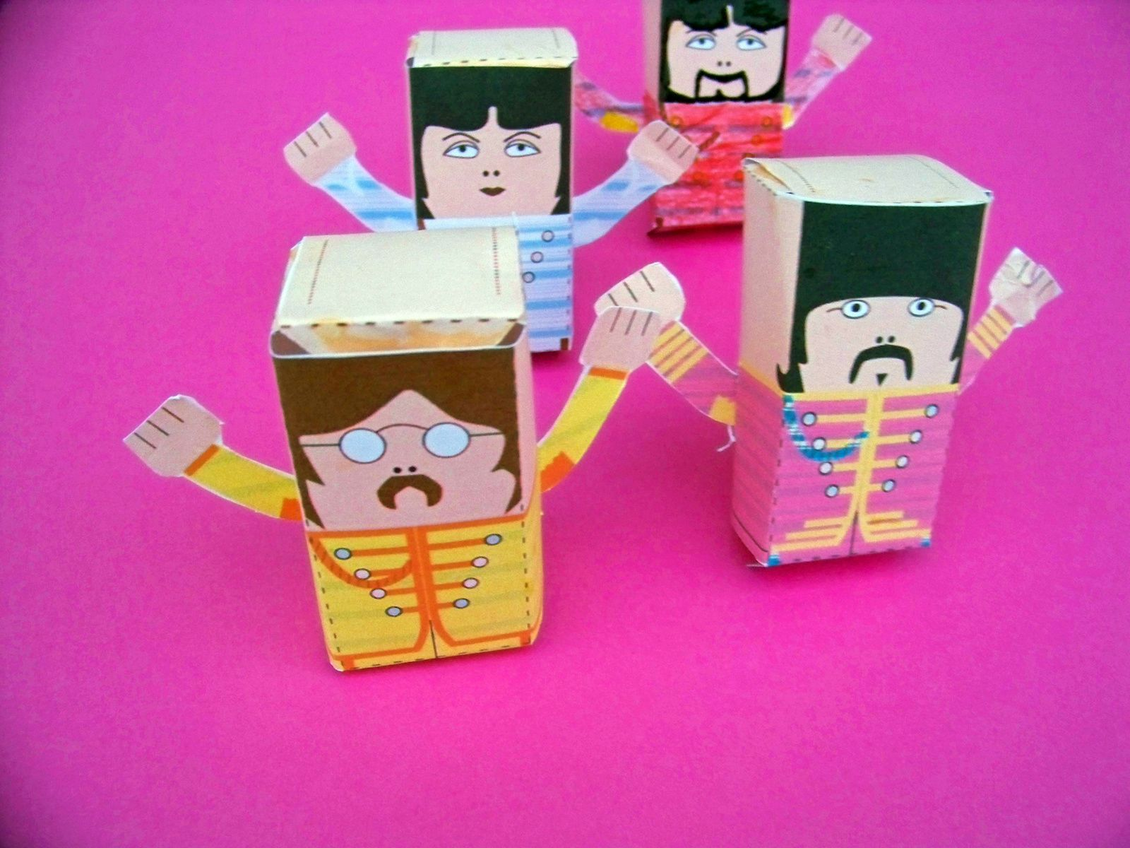 Beatles party   :DIY boîtes