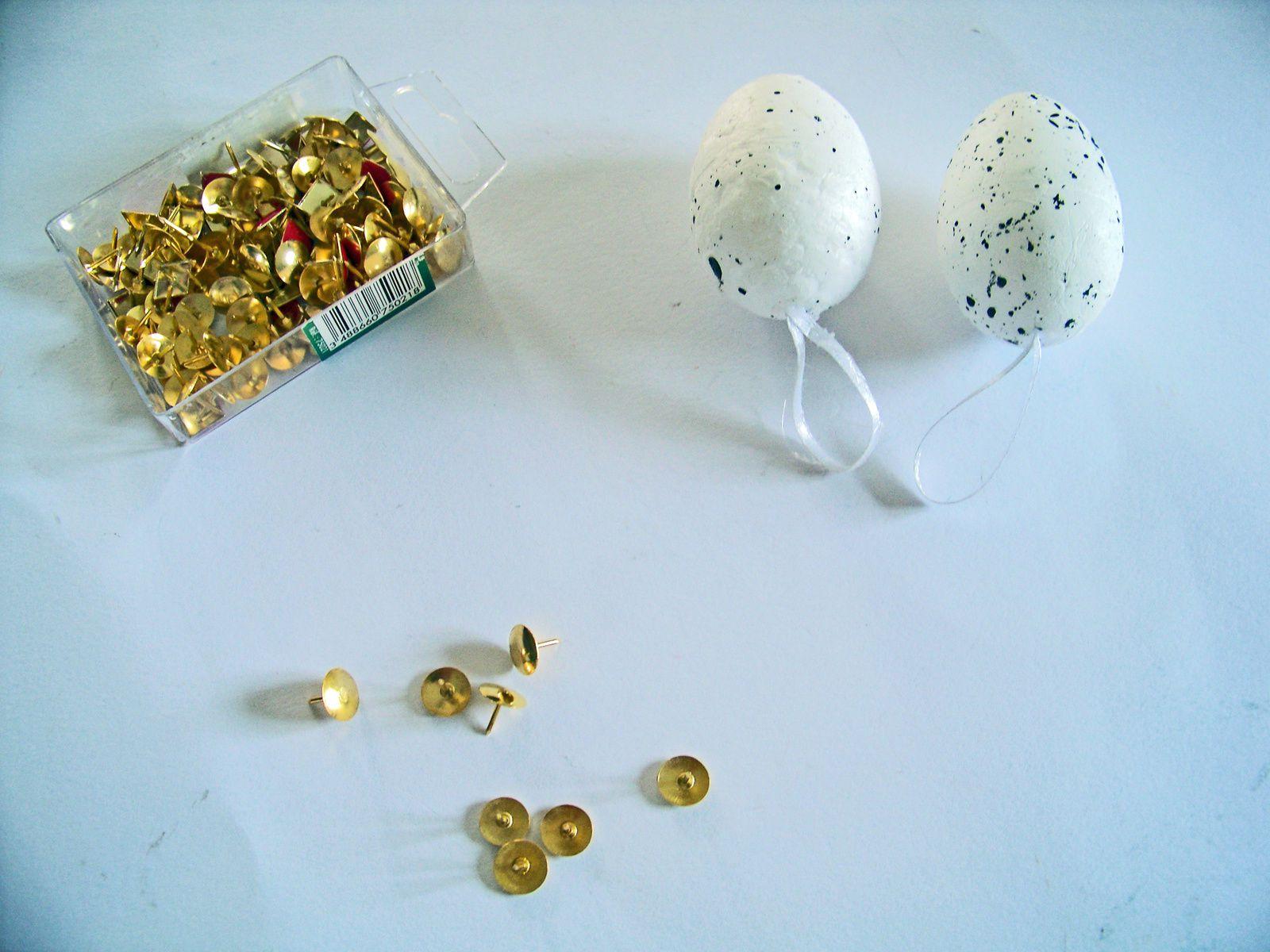 Des oeufs métalliques : DIY spécial Pâques