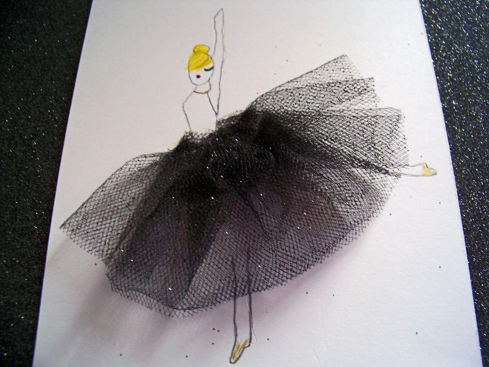 DIY:La ballerine et son tutu en relief !