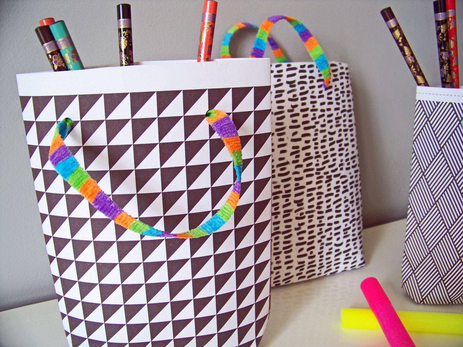 Motifs graphiques pour sacs en papier