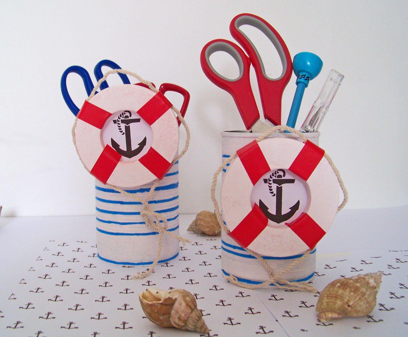 Style marin pour boîtes recyclées