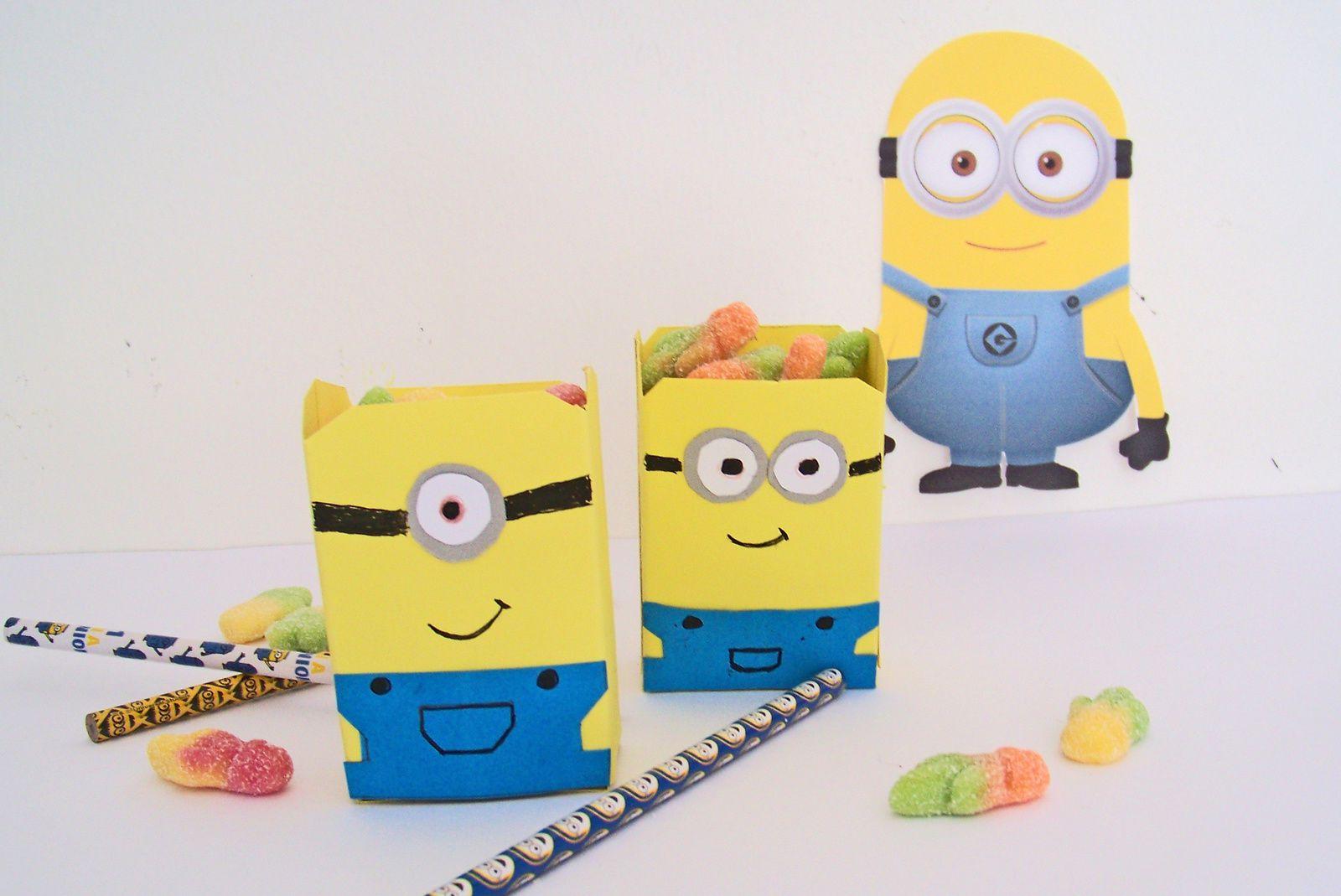 Les minions, le DIY boîte à pop corn ou à bonbecs !!