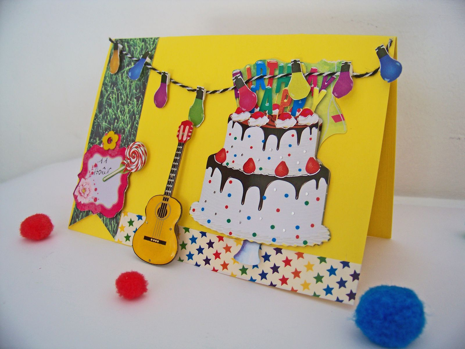 Une carte scrap inspiration guinguette !