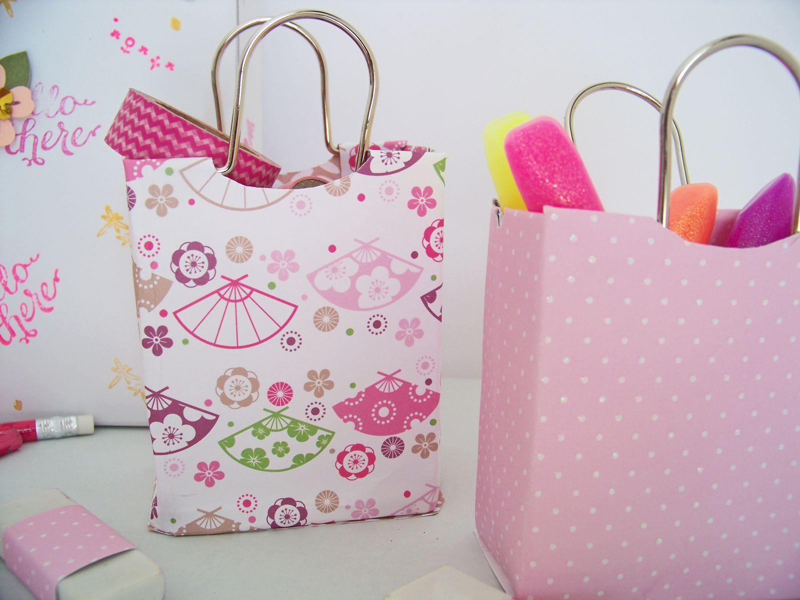 Des petits sacs à poignées rigides pour organiser ,trier ,ranger ....