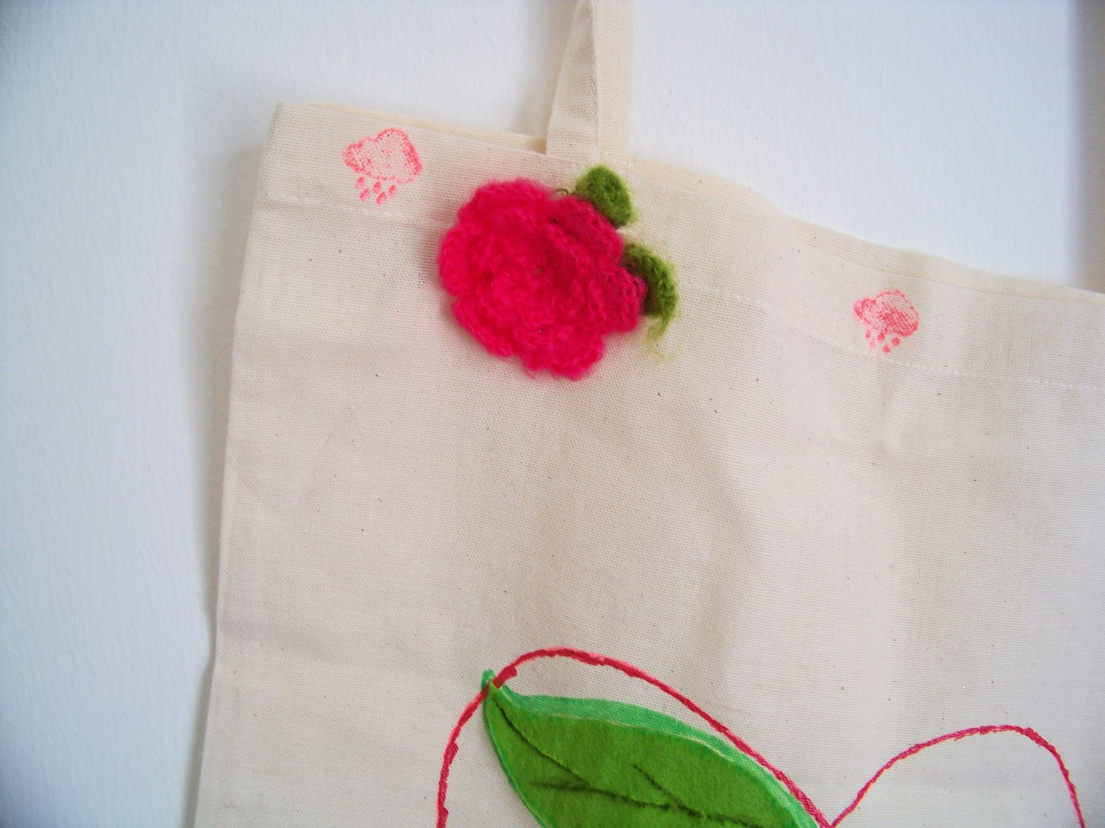 Le tote bag pomme : un DIY Kawaii