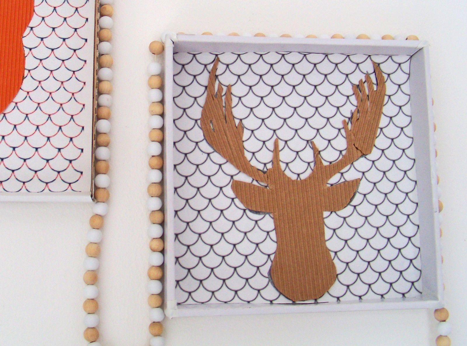 Esprit récup pour cadres home made &quot&#x3B;les animaux de la forêt&quot&#x3B;