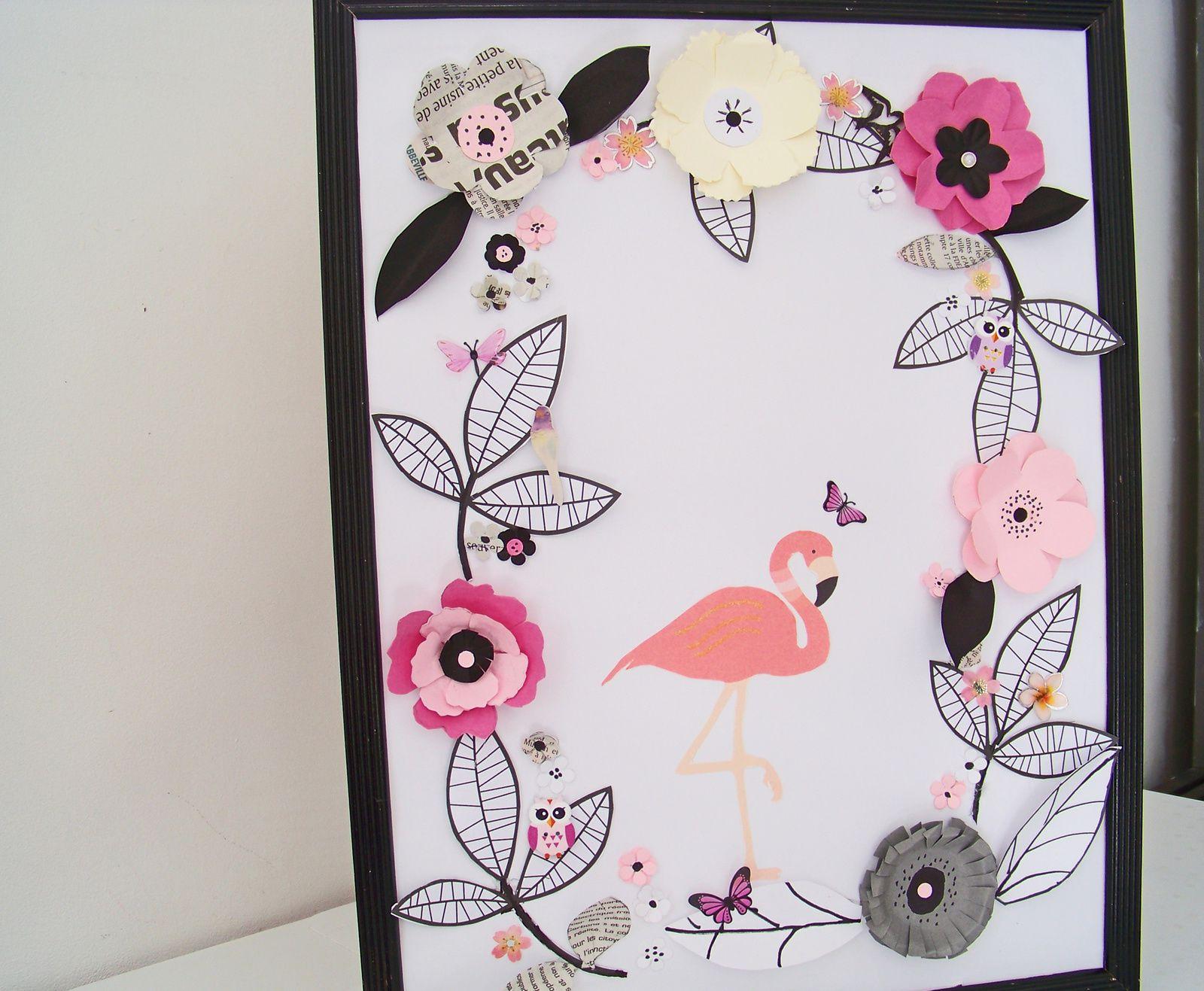 Les fleurs en papier pour un cadre de printemps