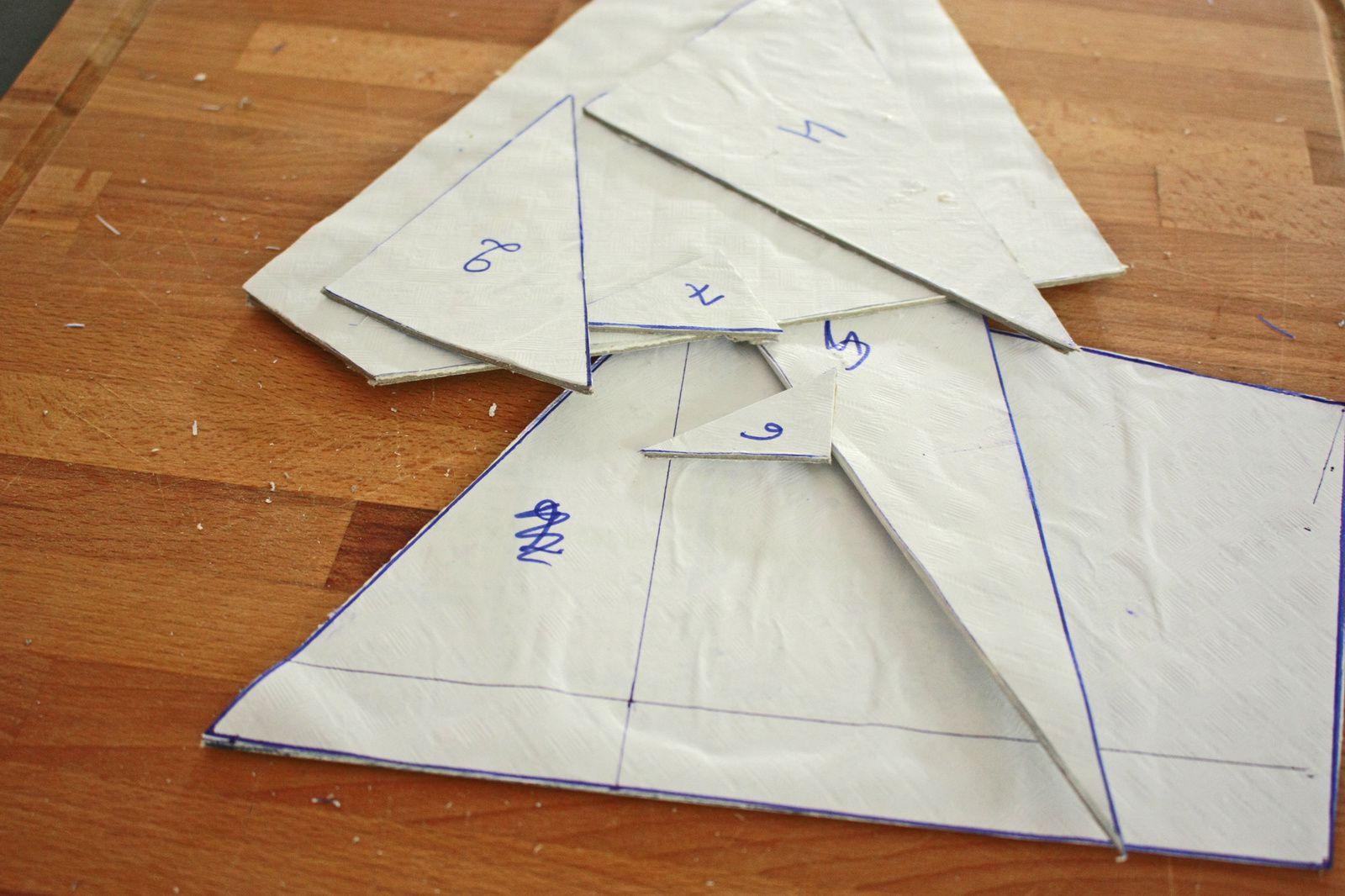 Des tangrams en déco murale ou oiseaux géants façon puzzle