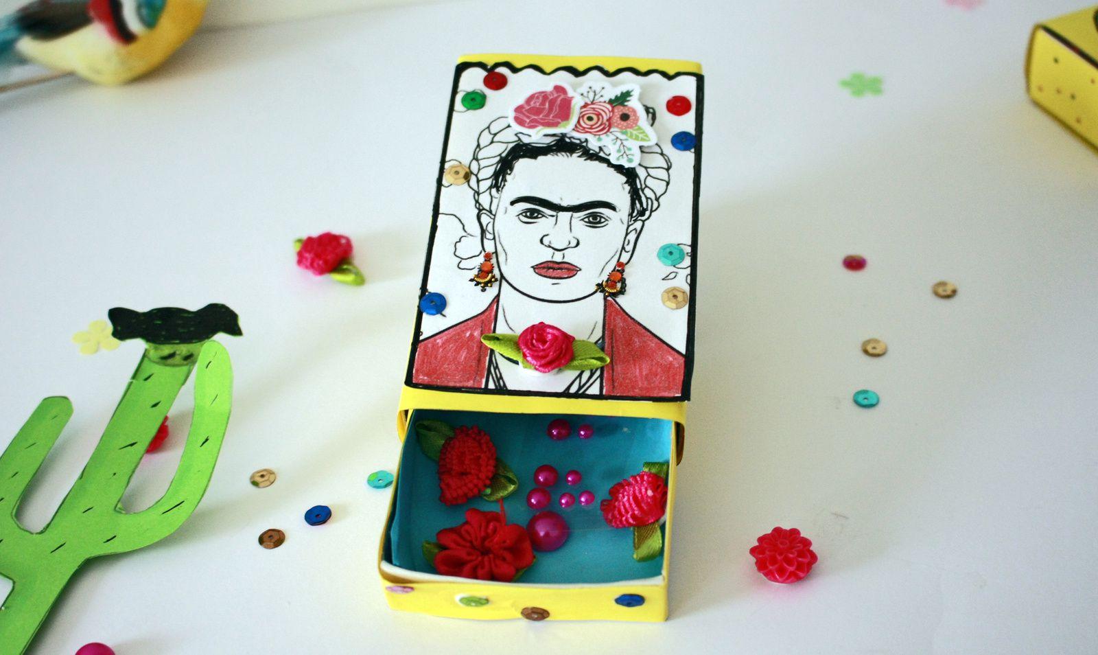 Diy :  la boîte Frida Kahlo !!