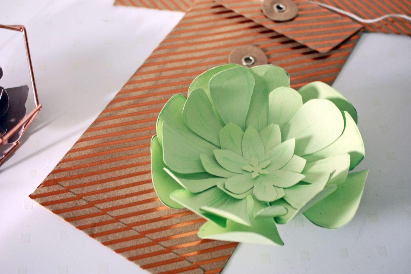 Les succulentes en papier : DIY !
