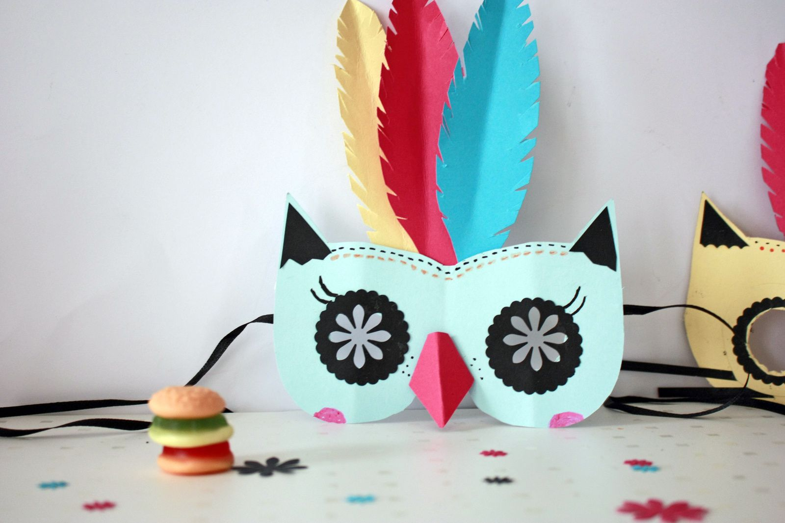 Masques en papier : Diy