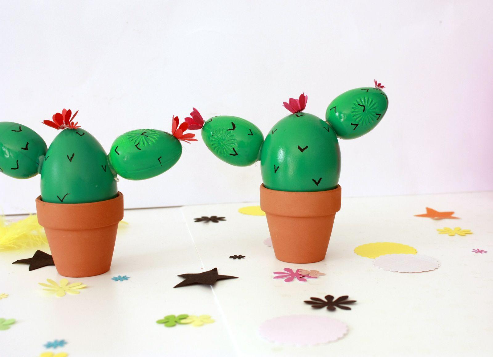 Les oeufs se métamorphosent en  cactus pour pâques !!
