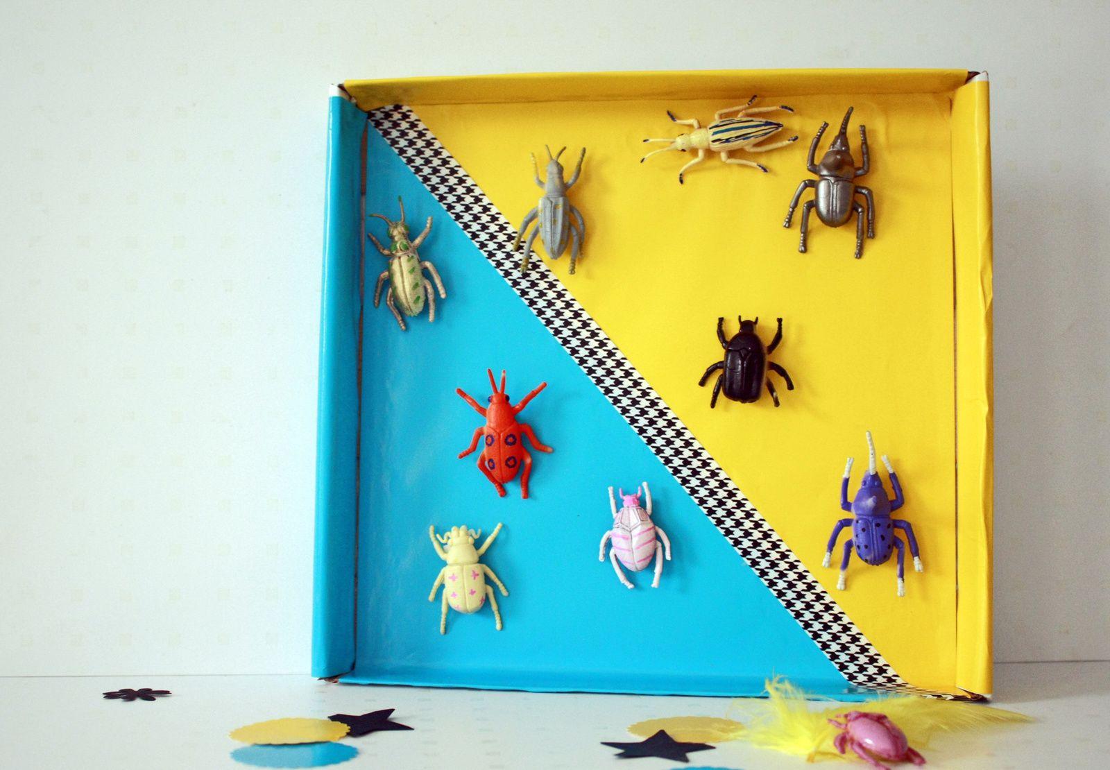 Des insectes colorés pour cabinet de curiosité pop color !!