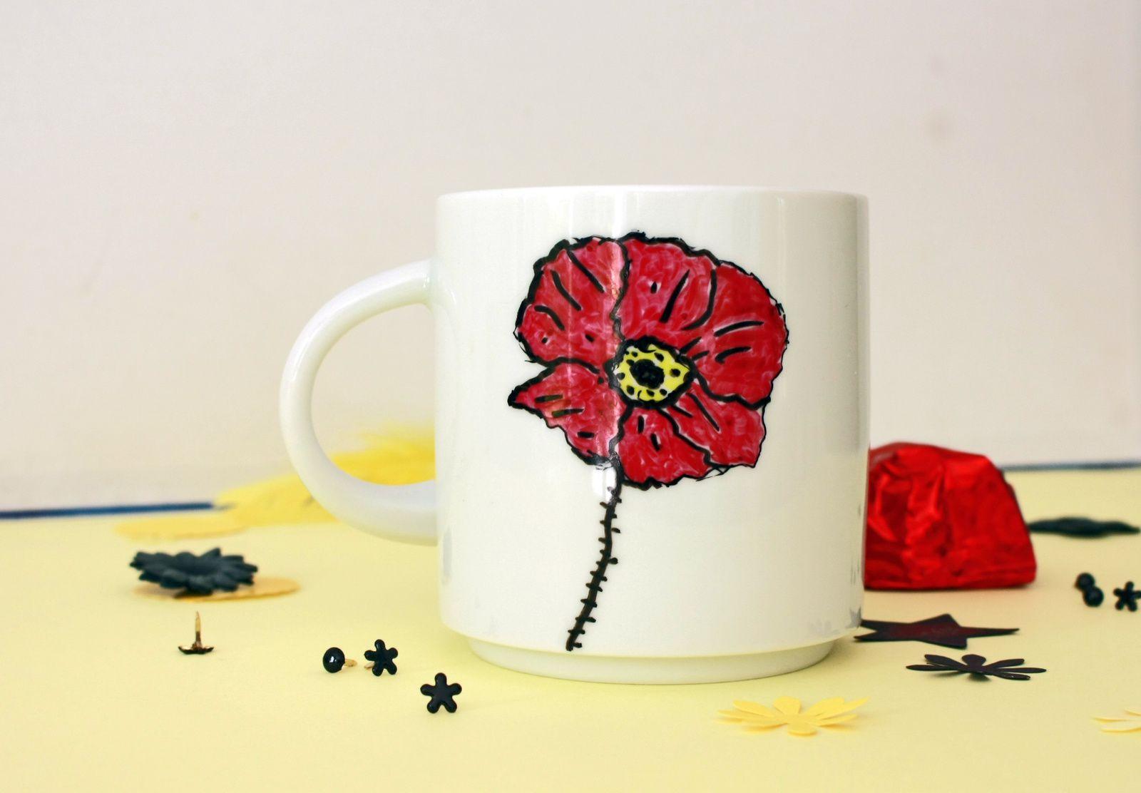 Le mug coquelicot  !