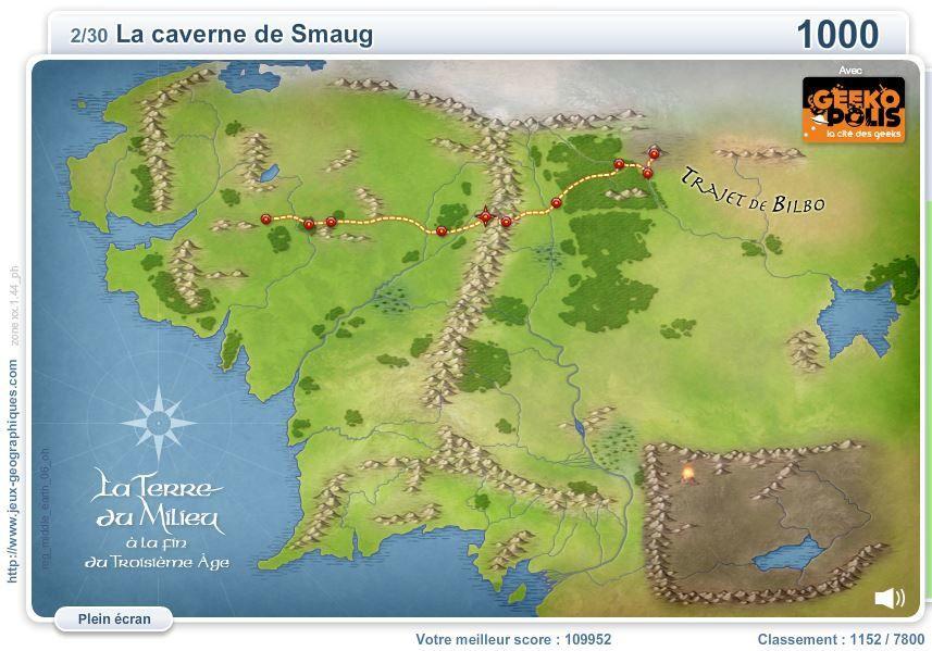 Un jeu géographique : où est la caverne de Smaug ? (facile ...)