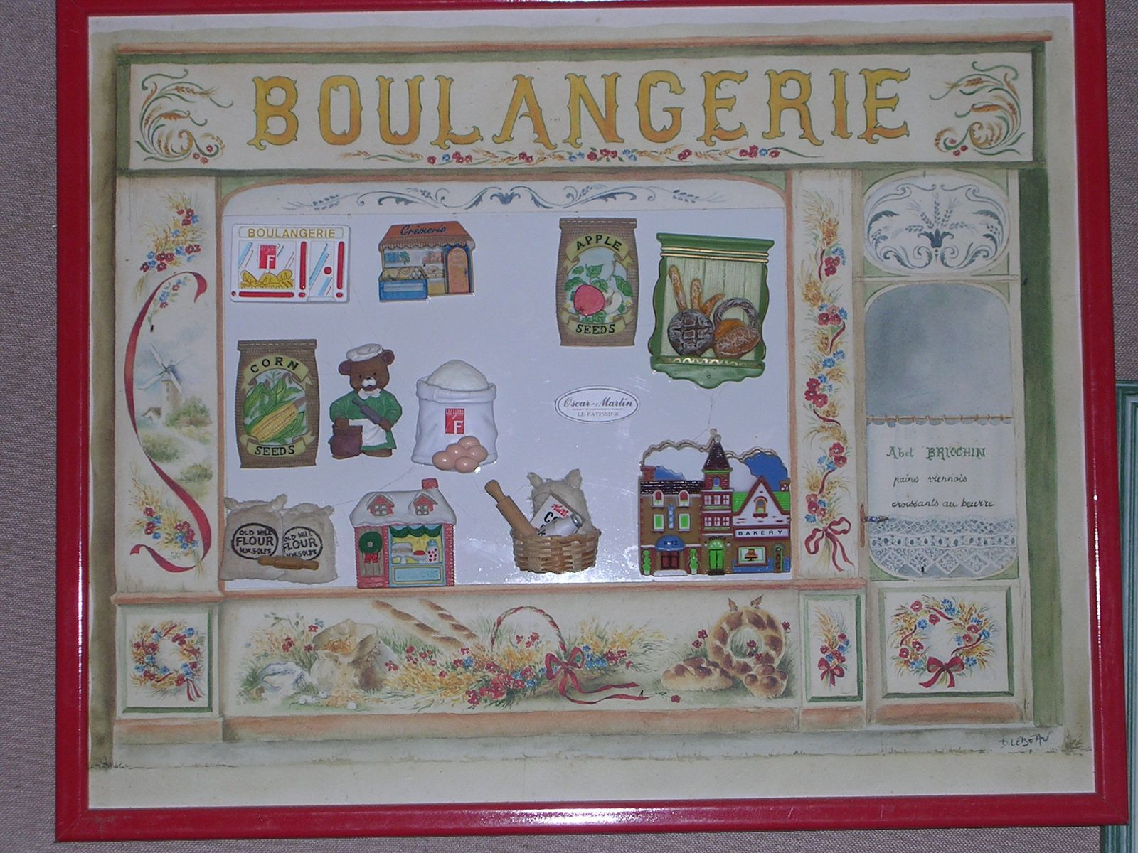 Ma collection : quelques tableaux ...... de magnets