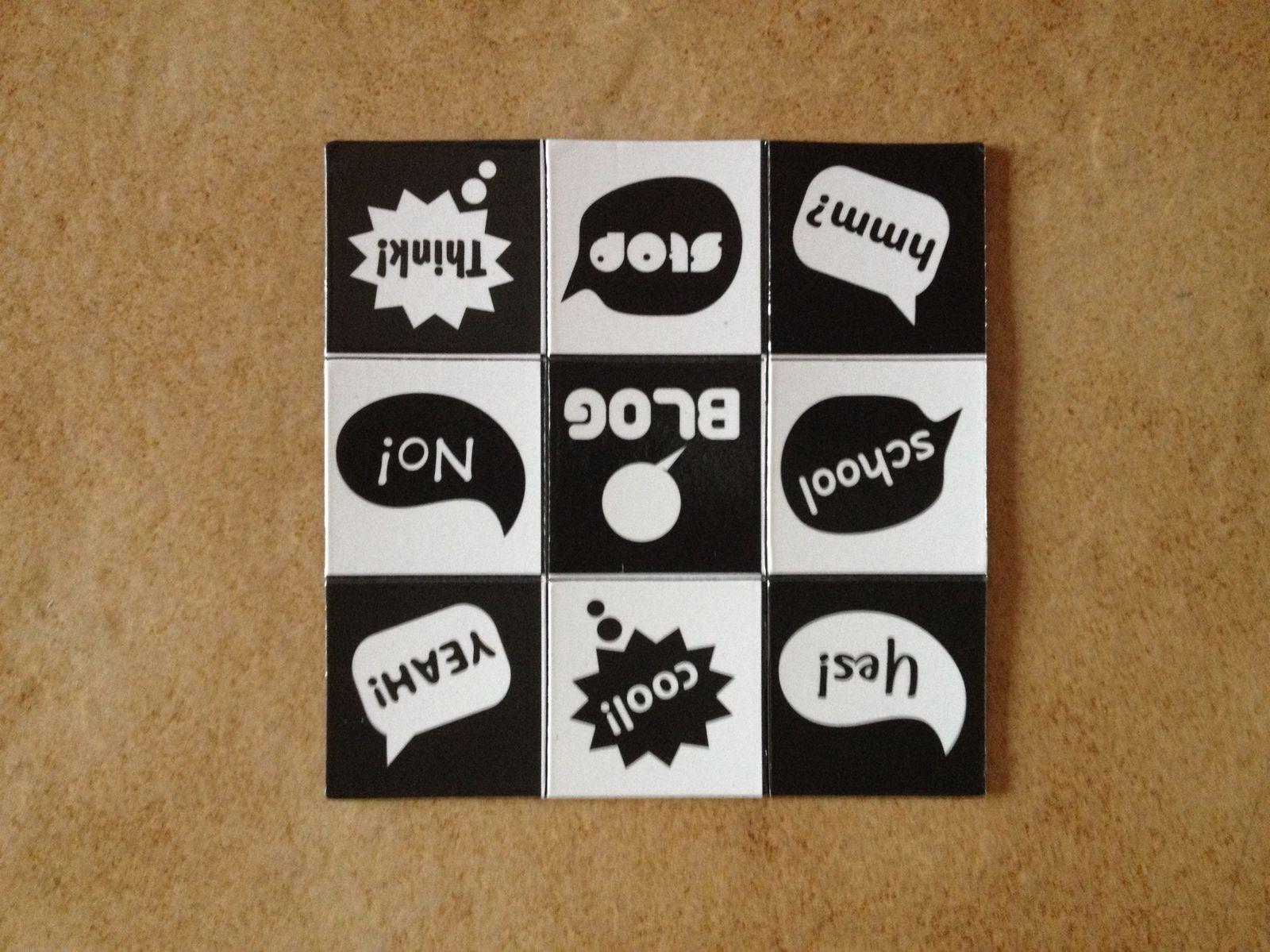 Nouveauté : puzzle de 9 magnets à détacher
