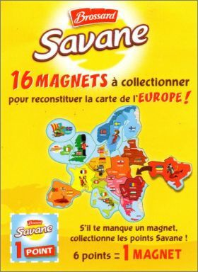 Magnets BROSSARD : carte d'Europe