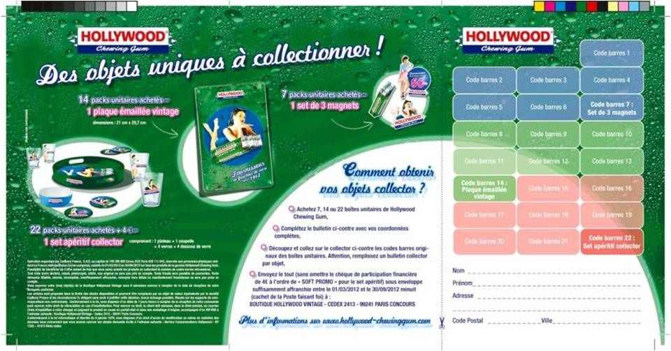 Magnet HOLLYWOOD chewing gum