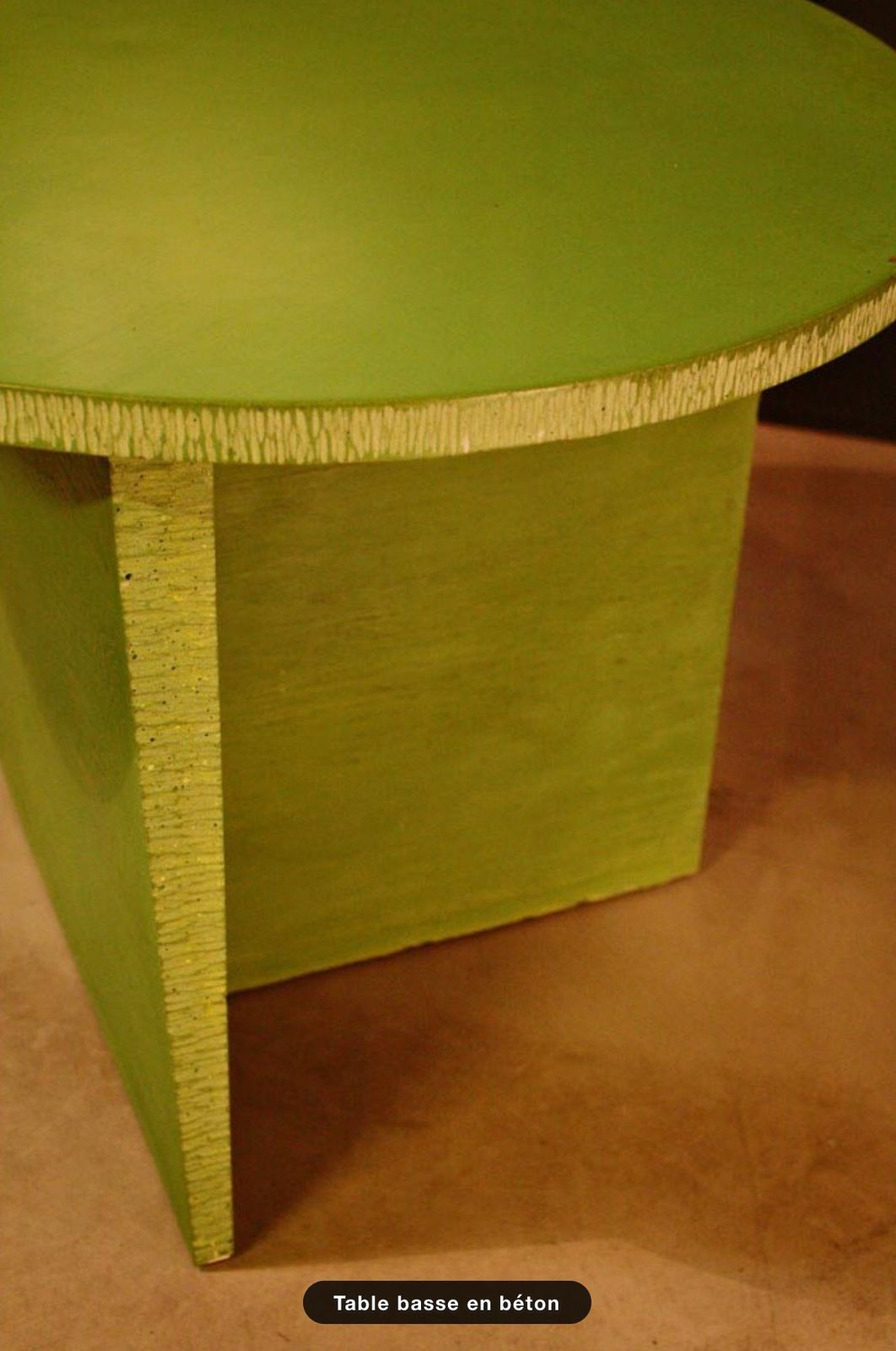 Table basse en béton