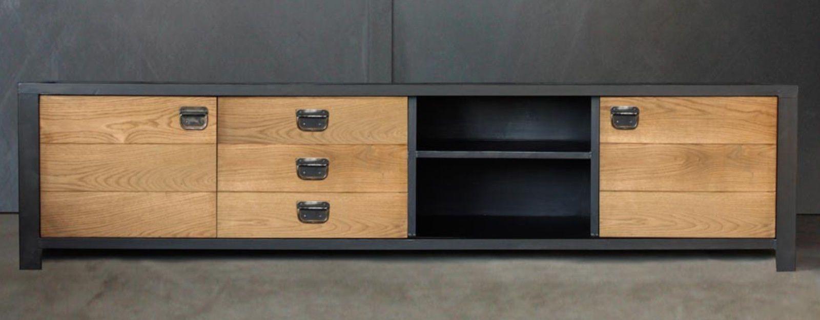 meuble tv industriel sur mesure www. Black Bedroom Furniture Sets. Home Design Ideas