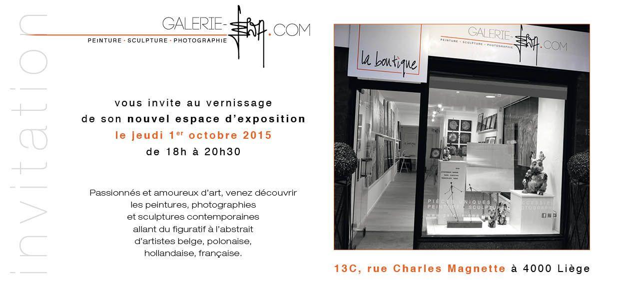 Invitation au vernissage à la galerie &quot&#x3B; EWA &quot&#x3B;