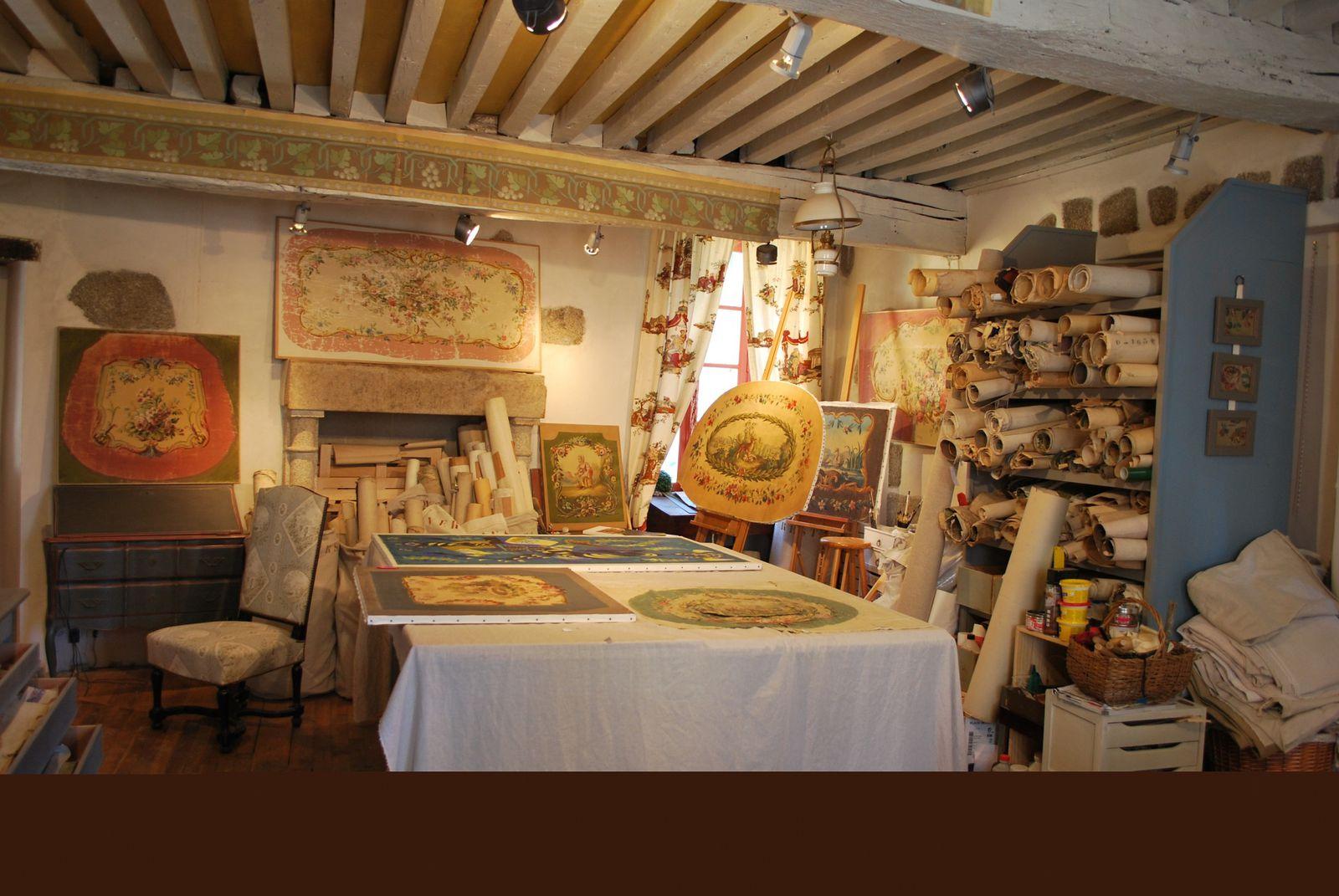 Quelques images de l'Atelier de Chantal Chirac à Aubusson