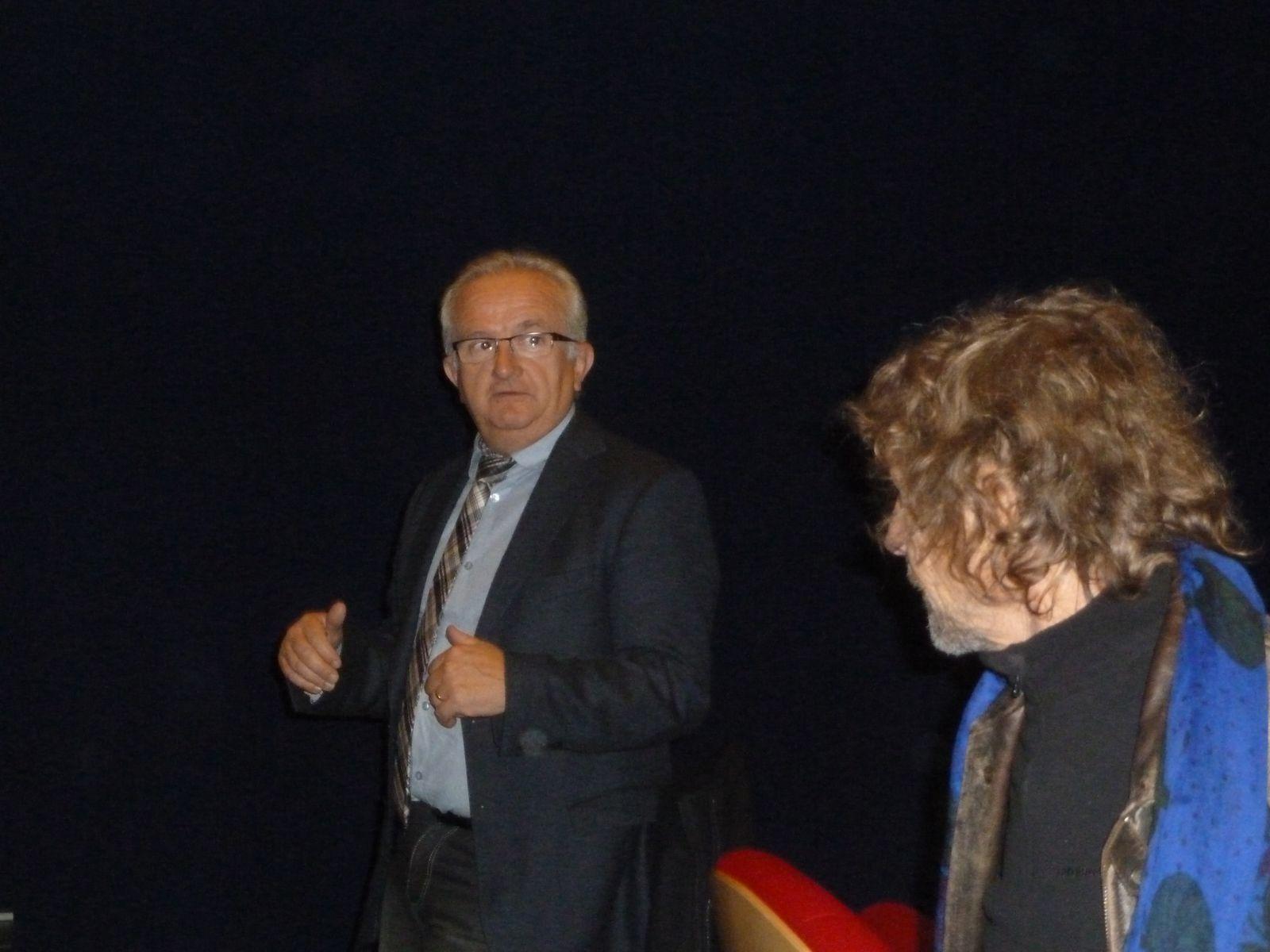 Ouverture Mois du Film Documentaire   / Cinéma le Trianon Marvejols Lozère / Monsieur Louis Galtier,  Directeur de la BDP 48 / Luc Decaster , réalisateur