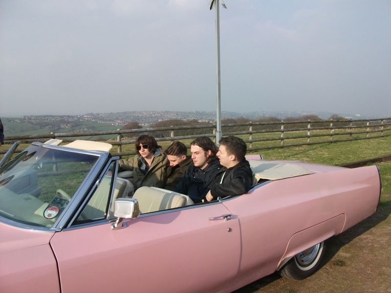 Arctic Monkeys on the road (weddingcarswakefield)