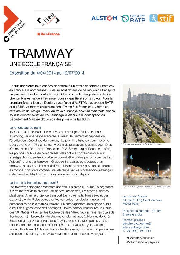 [ Expo > Design Son ] Tramway, une école française (avril 2014, Paris)