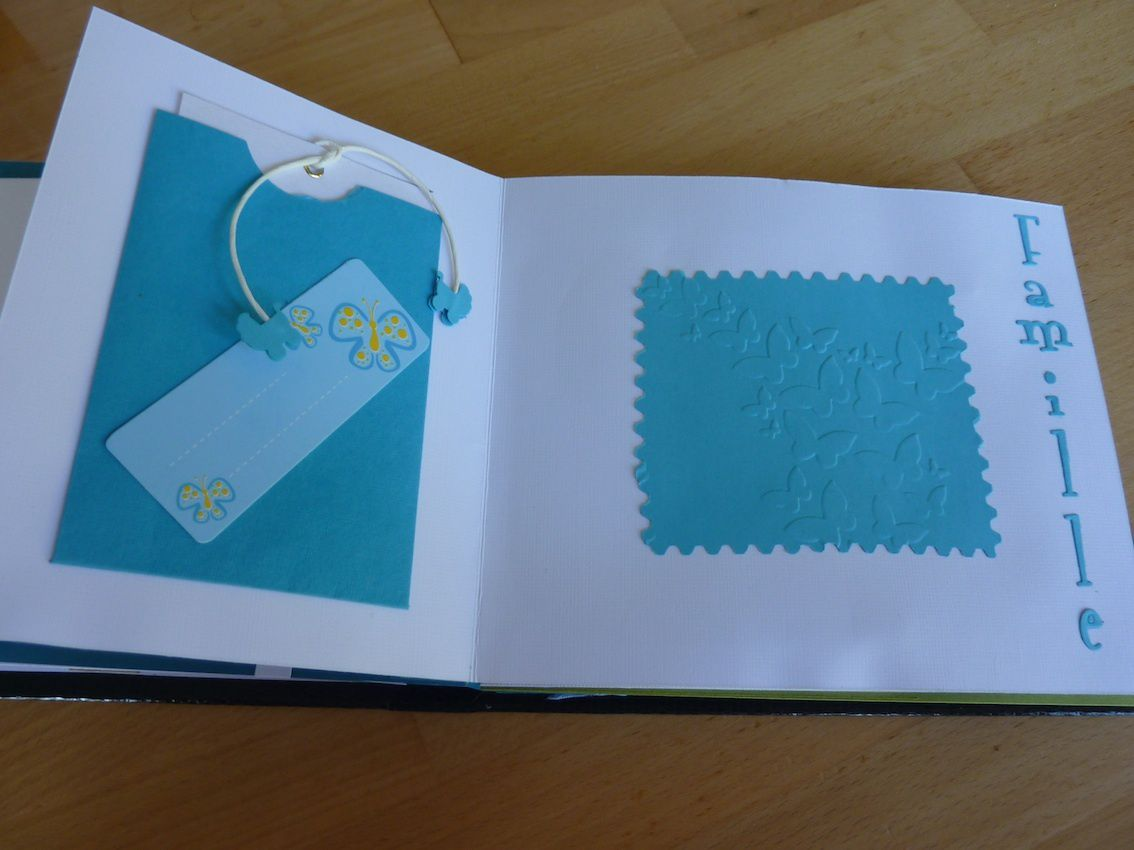 Mini-album suite au baby shower...