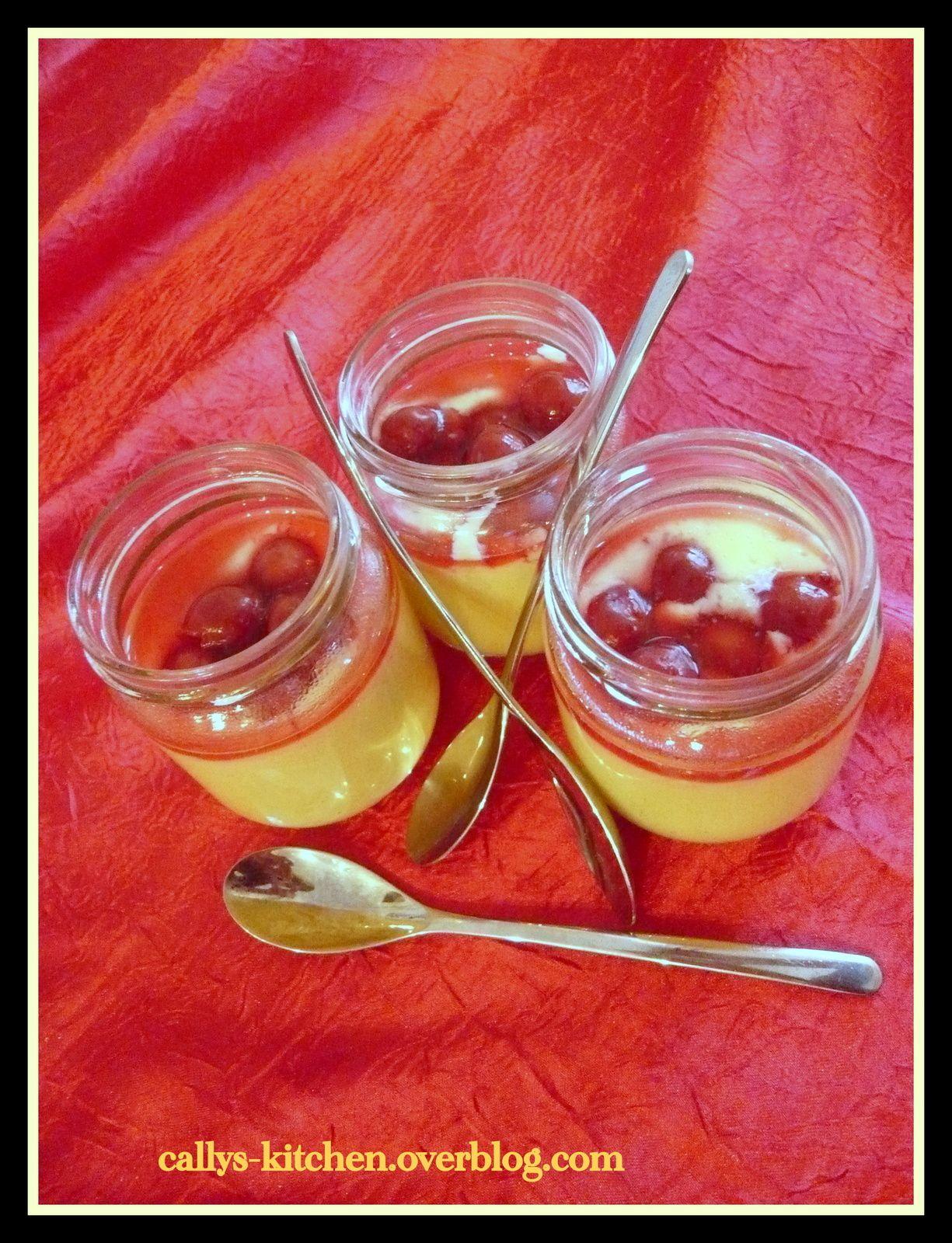Crème vanille aux cerises