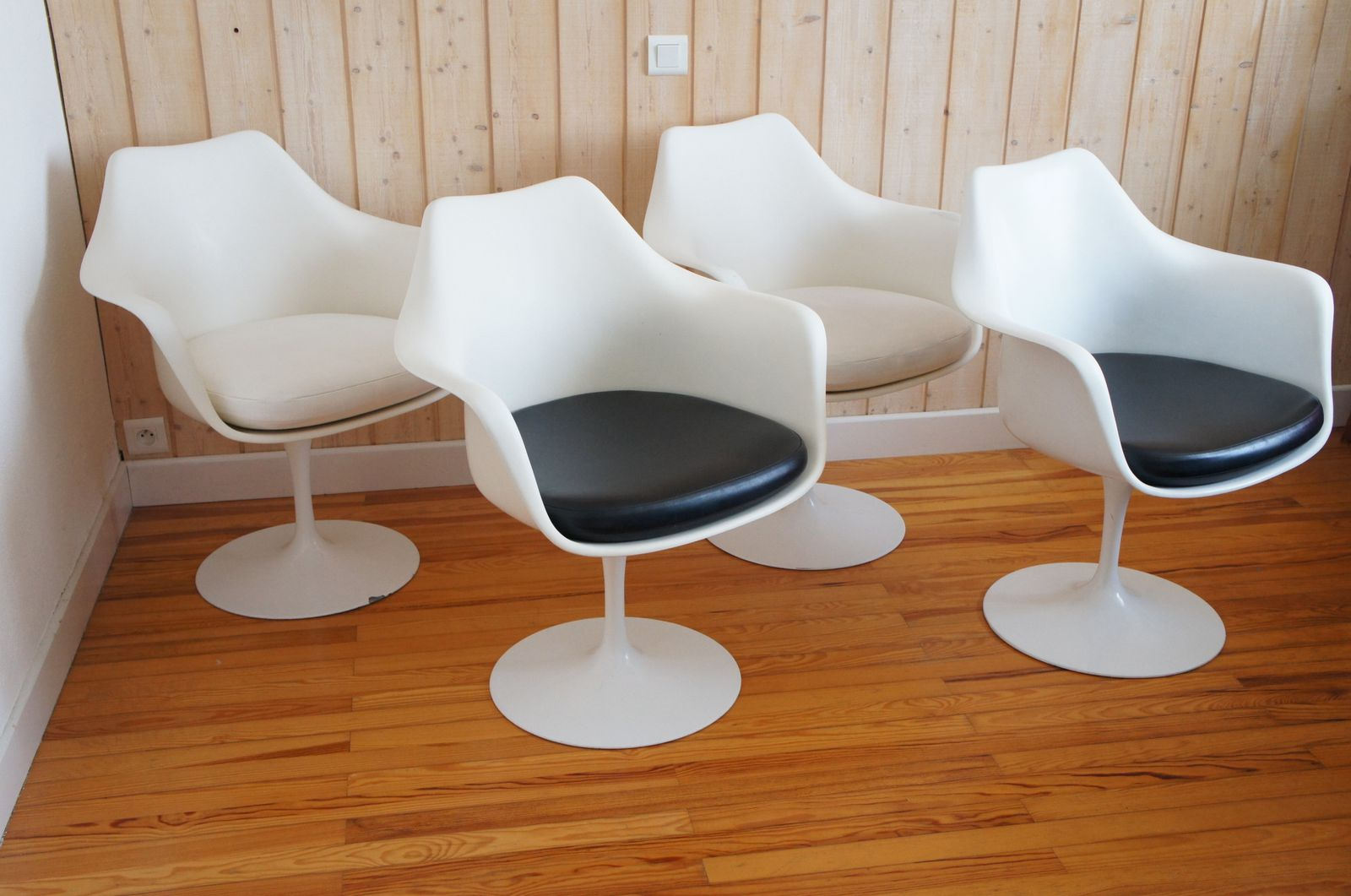 Fauteuils tulipes eero saarinen knoll international design vintage ann es 60 - Fauteuil knoll tulipe ...