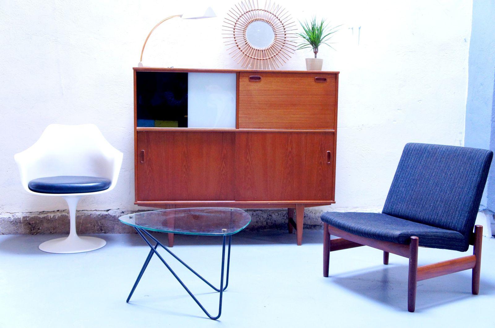 Vendu meuble scandinave buffet teck ann es 50 60 70 danois commode haut des - Mobilier scandinave design ...
