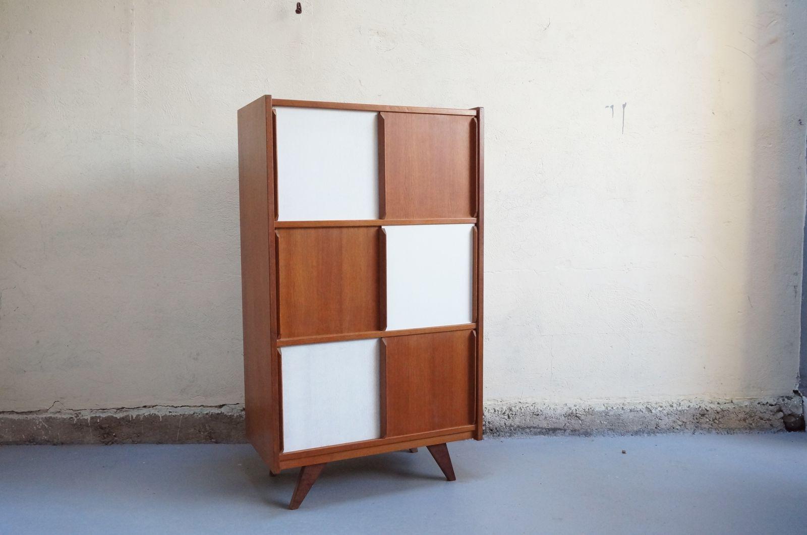 Vendu meuble vintage design portes coulissantes bois esprit charlotte perriand jean prouv - Meuble charlotte perriand ...
