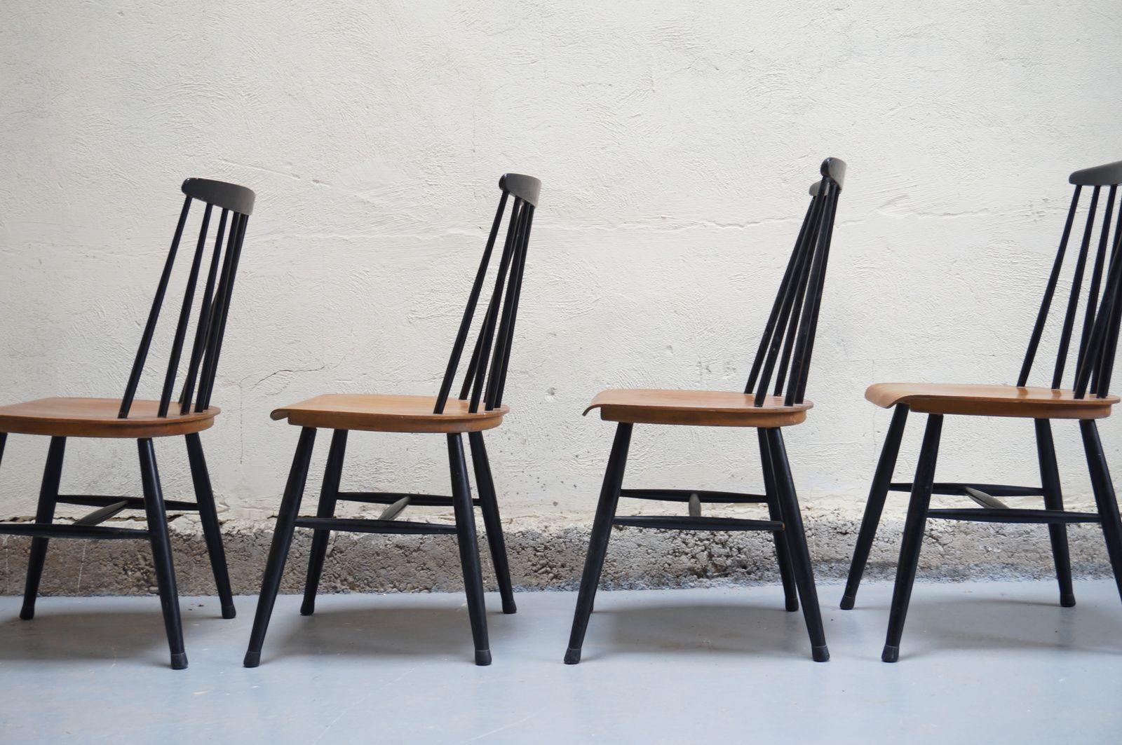 chaises fanett du designer ilmari tapiovaara design su dois ann es 50 60 70 vintage scandinave. Black Bedroom Furniture Sets. Home Design Ideas