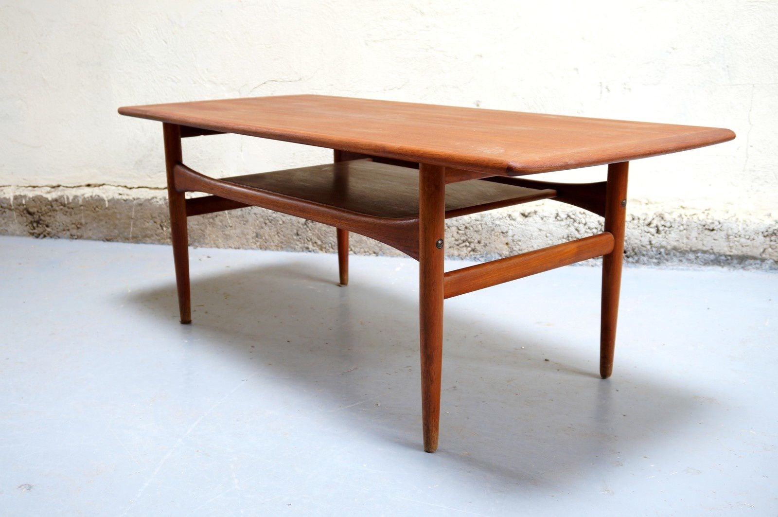 Table basse scandinave arrebo mobler danois vintage danish for Table basse blanc scandinave