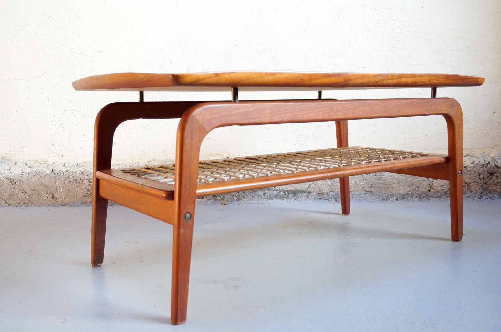 Vendu table basse scandinave danois design teck vintage - Table de salon en teck occasion ...