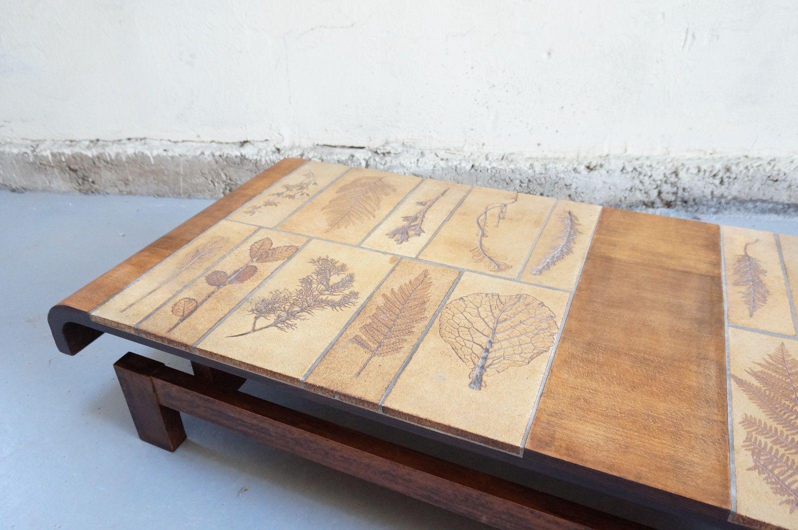 Table basse capron roger design vintage ceramique ann es for Architecture annees 60