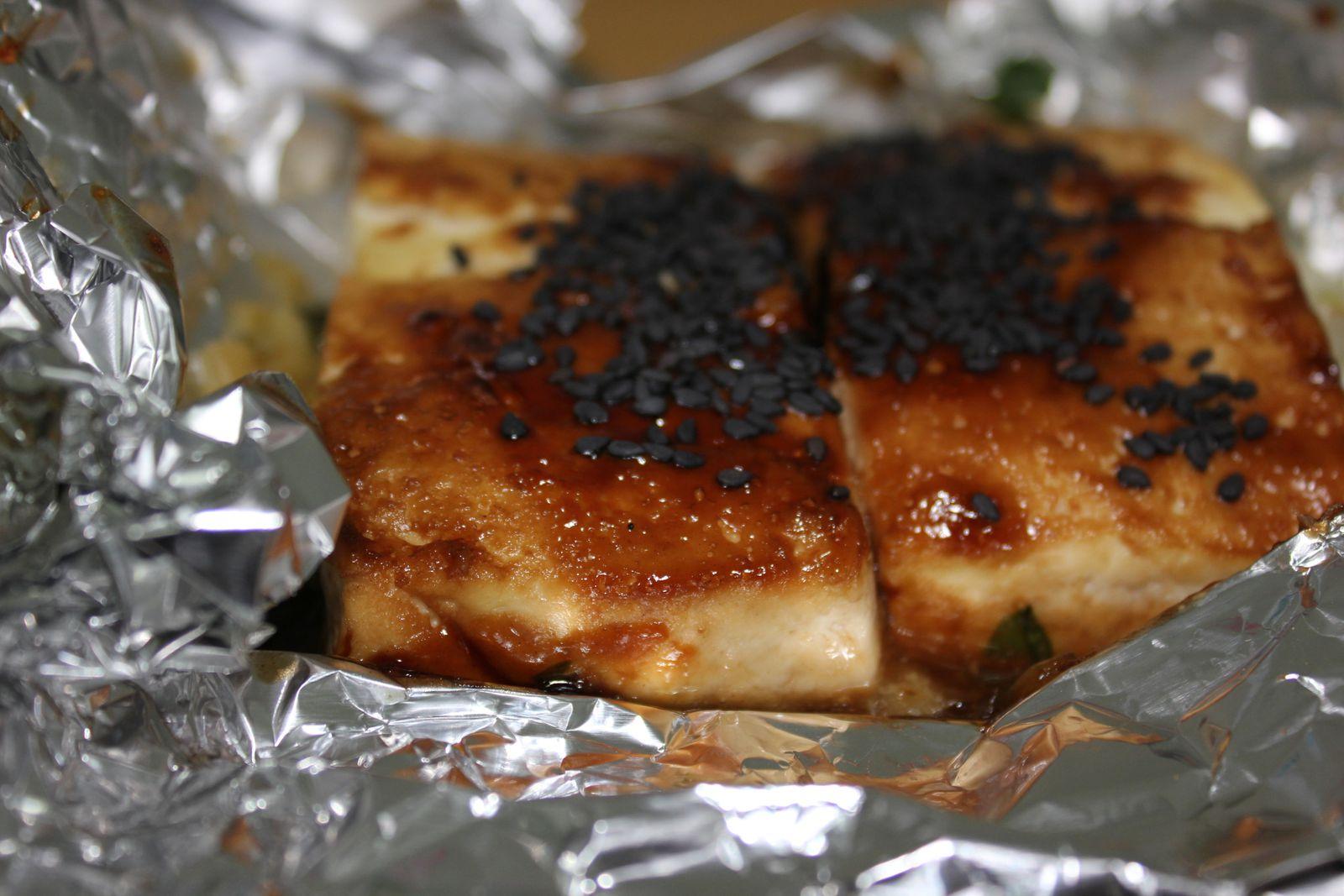 Tofu grillé à la coriandre