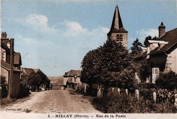 Photos et cartes postales  de l'église de Millay